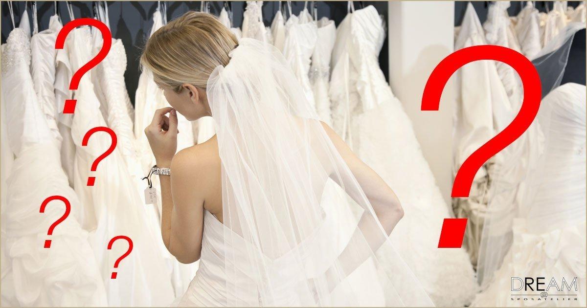la guida per scegliere l'abito da sposa