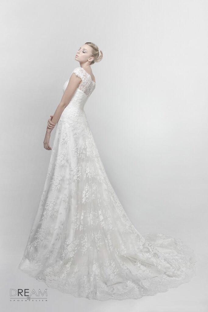 abito da sposa modello flora
