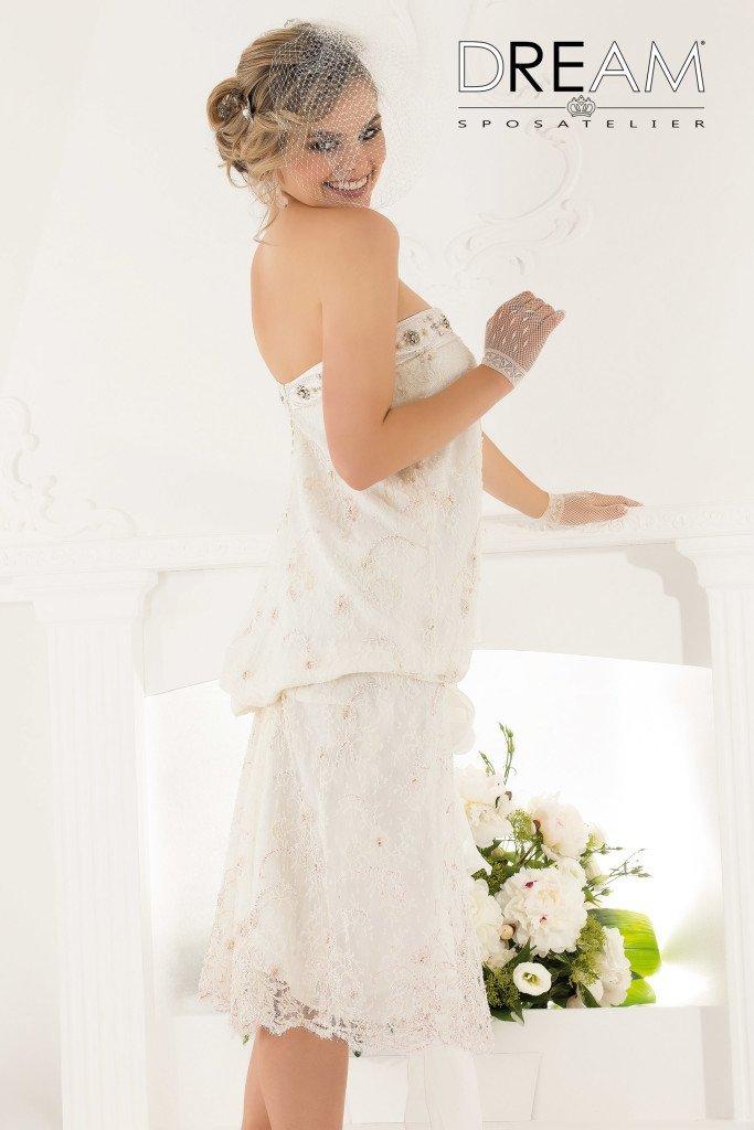 abito da sposa anni 50 corto