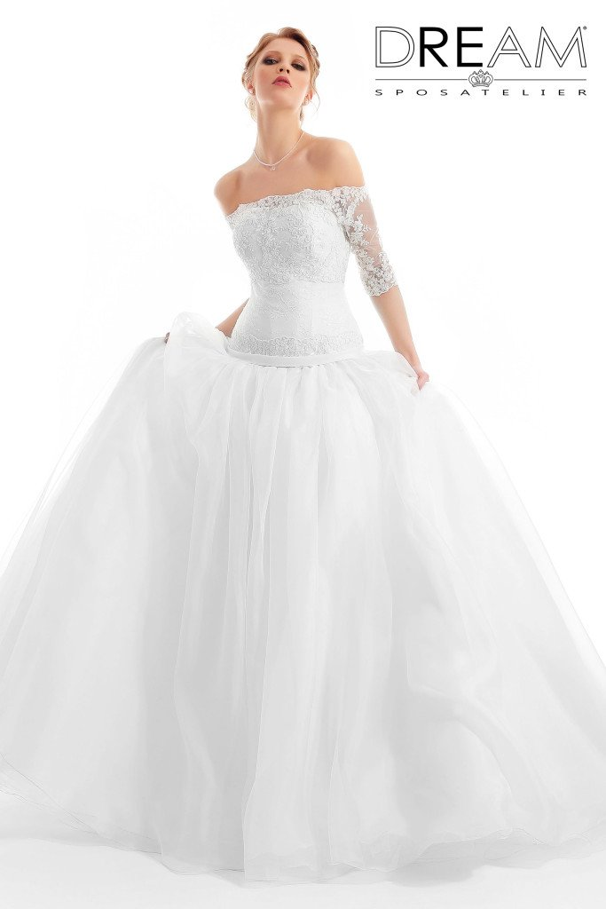 abito da sposa di organza