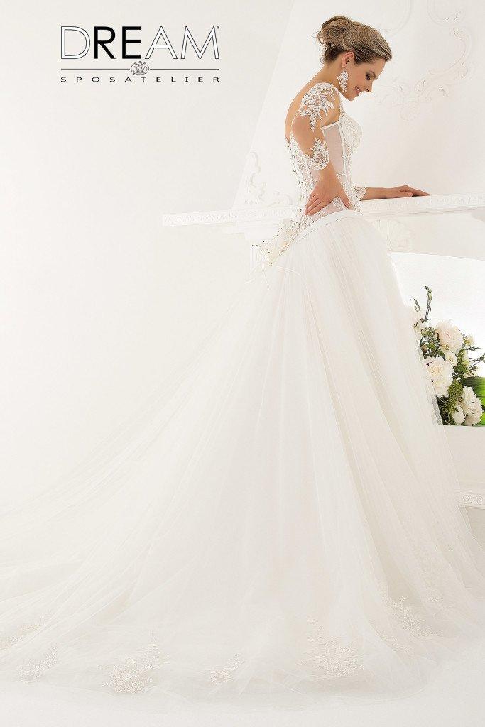 abiti da sposa in pizzo e tulle