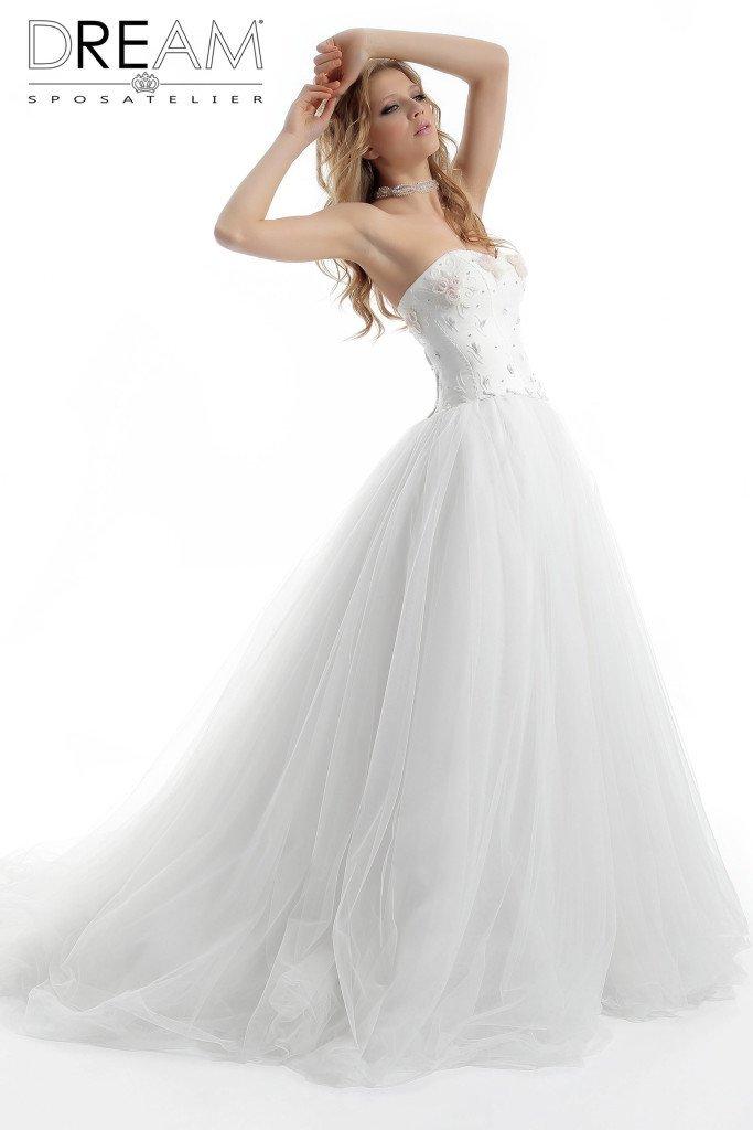 abito da sposa a cuore