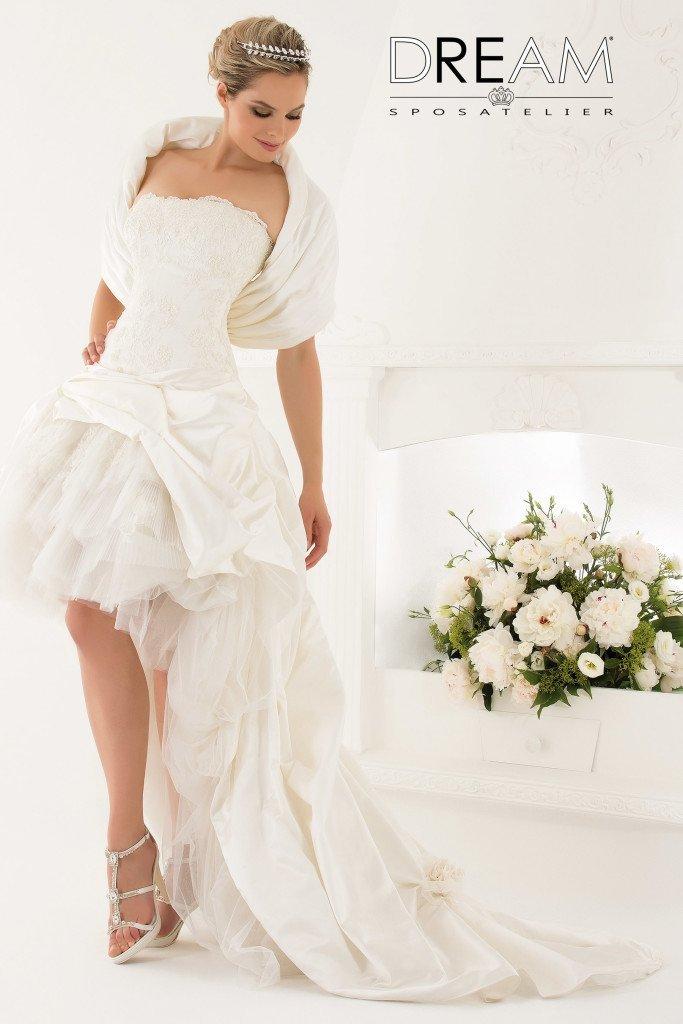 abito da sposa corto e lungo