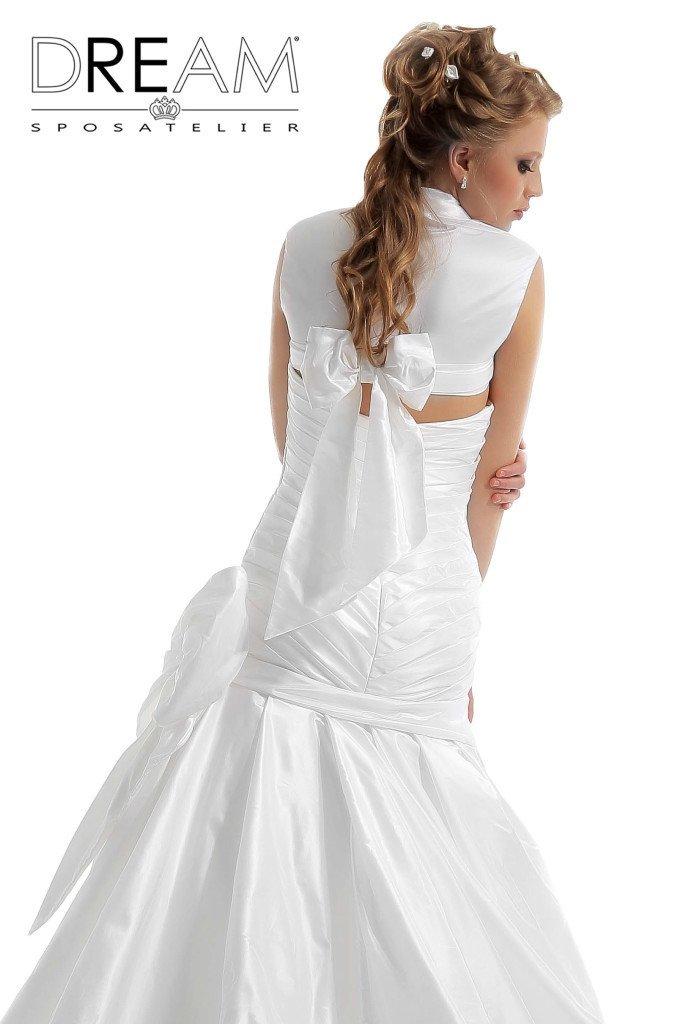 abito da sposa in taffeta