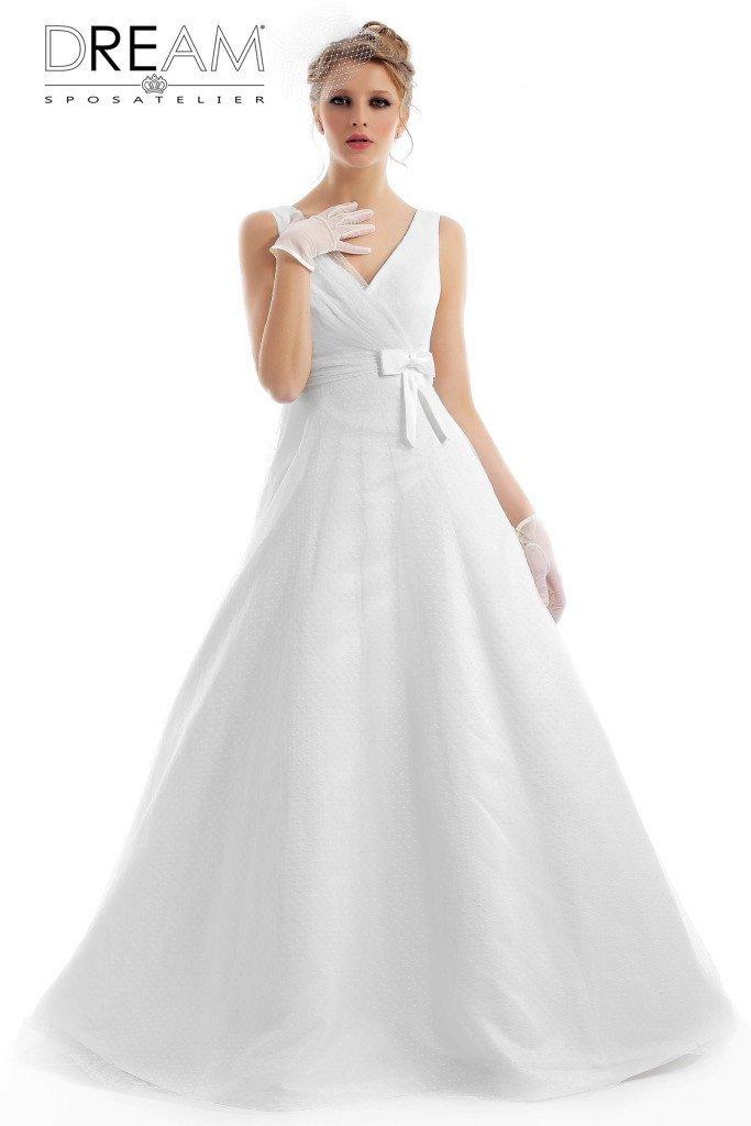 abito da sposa a pois