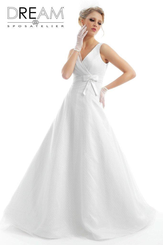 abito da sposa linea ad a