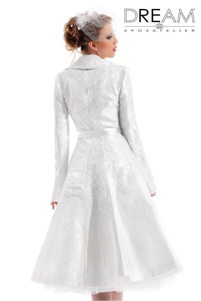 abito da sposa cappotto corto