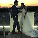 abito da sposa con spacco