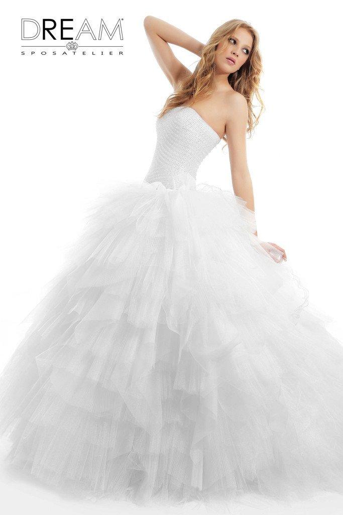 abito da sposa corpetto swarovski